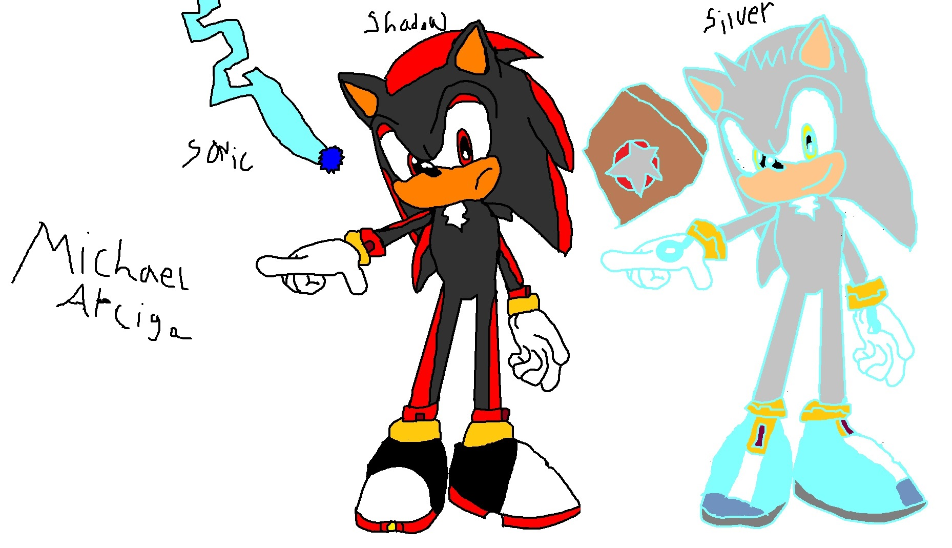 Sonic Shadow And Silver  Kids Drawings