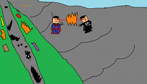 LEGO superman vs genral zod